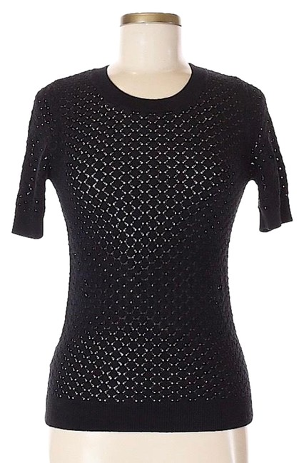 Preload https://img-static.tradesy.com/item/25268412/ann-taylor-nwot-lace-tee-black-sweater-0-1-650-650.jpg