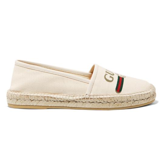 Preload https://img-static.tradesy.com/item/25268480/gucci-logo-printed-canvas-espadrilles-flats-size-eu-385-approx-us-85-regular-m-b-0-0-540-540.jpg