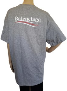Balenciaga Arena Men Logo Monogram Neoprene T Shirt Grey