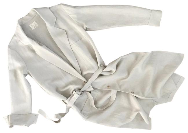 FIrst Rite Belted Linen Trench khaki Jacket Image 0