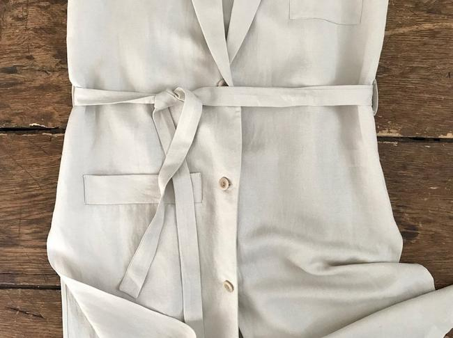 FIrst Rite Belted Linen Trench khaki Jacket Image 2