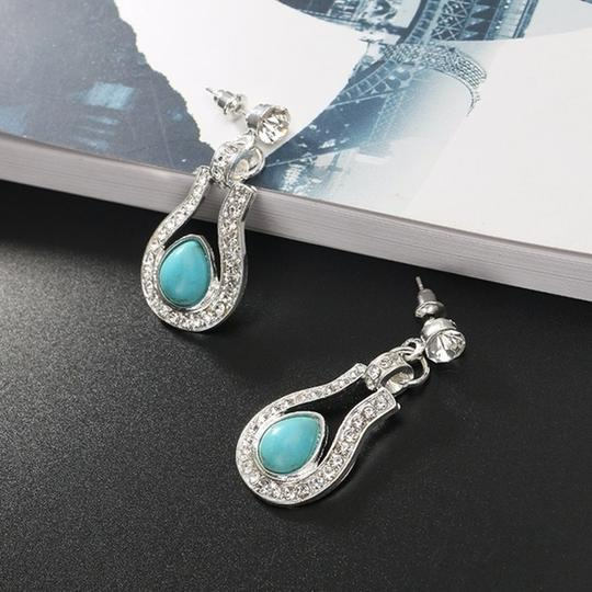 Other Bohemian Silver plated Crystal and Turquoise Pendant/Earrings Image 1