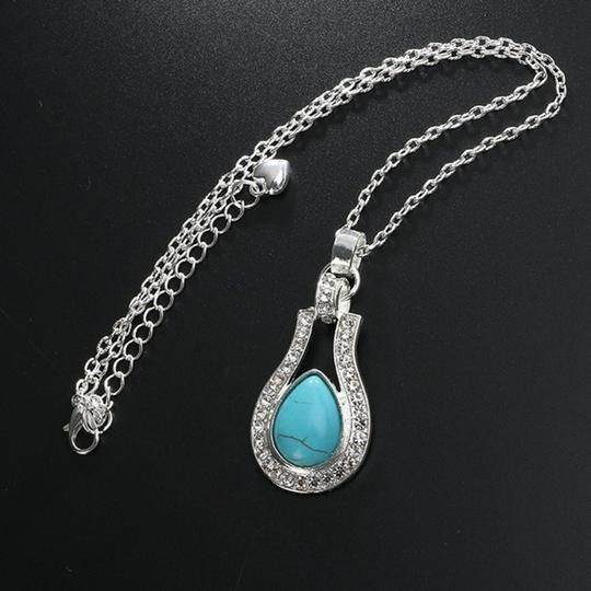 Other Bohemian Silver plated Crystal and Turquoise Pendant/Earrings Image 5