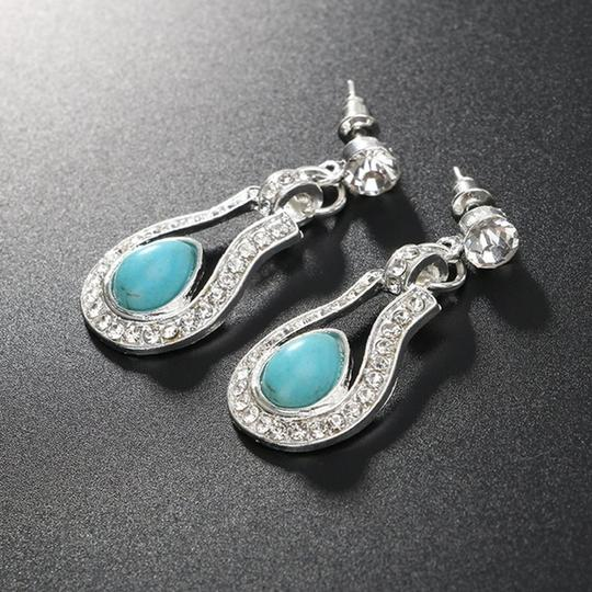Other Bohemian Silver plated Crystal and Turquoise Pendant/Earrings Image 7