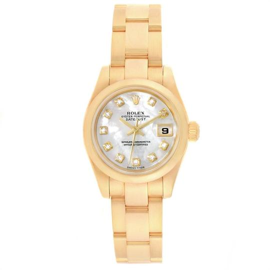 Rolex Rolex President Yellow Gold MOP Diamond Ladies Watch 179168 Box Papers Image 1