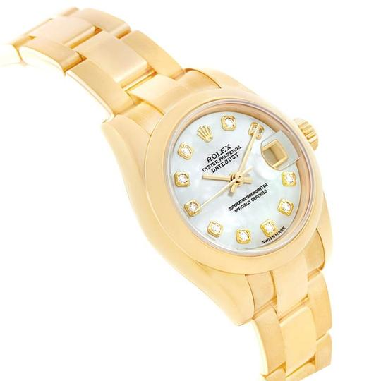 Rolex Rolex President Yellow Gold MOP Diamond Ladies Watch 179168 Box Papers Image 2