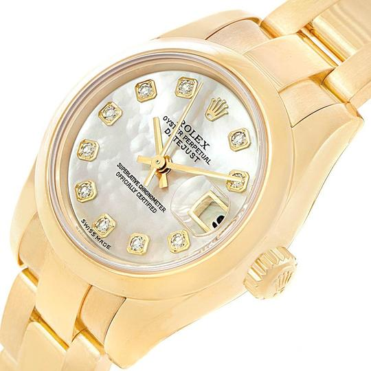 Rolex Rolex President Yellow Gold MOP Diamond Ladies Watch 179168 Box Papers Image 3