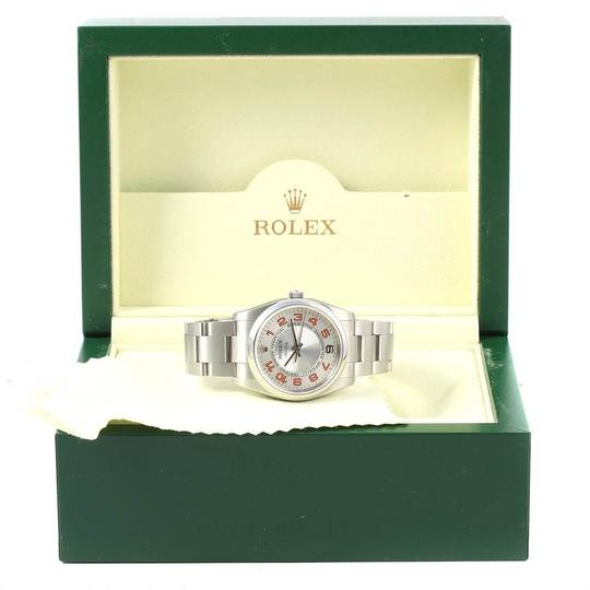 Rolex Rolex Air King Silver Orange Dial Steel Unisex Watch 114200 Image 11