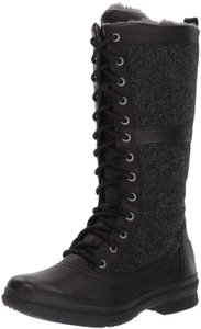 UGG Australia Lace Up Tall Winter Black Boots