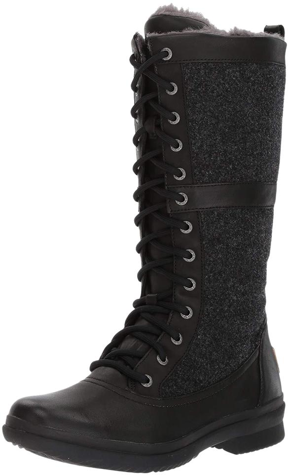 0bdaa8ffedc UGG Australia Black Women's Elvia Waterproof Tall Winter Snow Lace Up  Boots/Booties Size US 6 Regular (M, B) 61% off retail