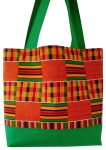 Dianna Brown Hadbags Purses Africa Kente Dashiki Tote in Green