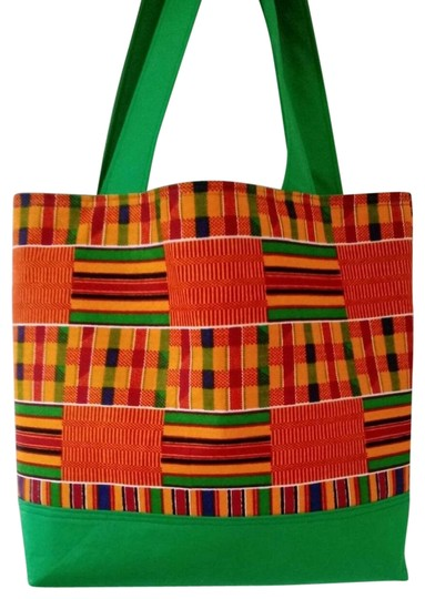 Preload https://img-static.tradesy.com/item/25268845/african-kente-print-handmade-green-cotton-tote-0-1-540-540.jpg