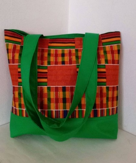 Dianna Brown Hadbags Purses Africa Kente Dashiki Tote in Green Image 1