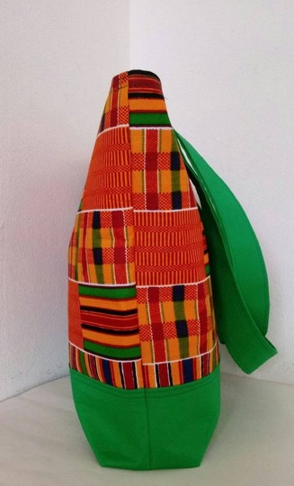 Dianna Brown Hadbags Purses Africa Kente Dashiki Tote in Green Image 2