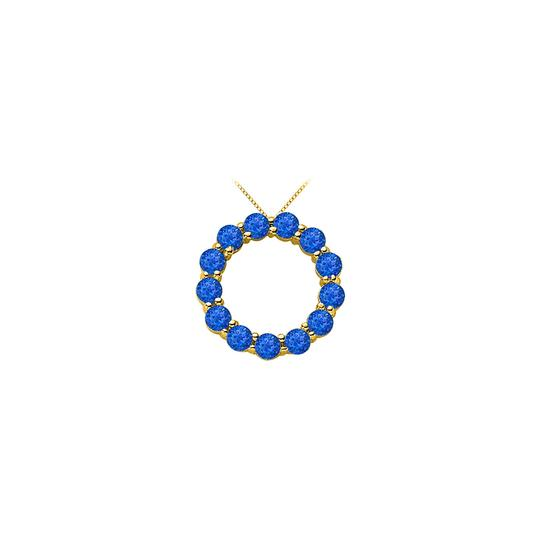 Preload https://img-static.tradesy.com/item/25268936/blue-created-sapphire-of-september-birthstone-circle-necklace-0-0-540-540.jpg