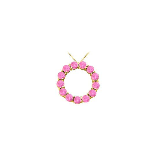 Preload https://img-static.tradesy.com/item/25268969/white-created-pink-sapphire-circle-of-life-pendant-in-yellow-gold-14k-total-necklace-0-0-540-540.jpg