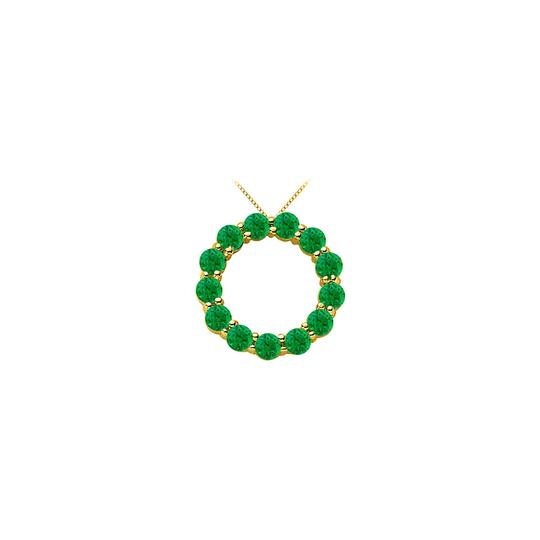 Preload https://img-static.tradesy.com/item/25268973/green-14k-yellow-gold-may-birthstone-of-created-emerald-circle-with-necklace-0-0-540-540.jpg