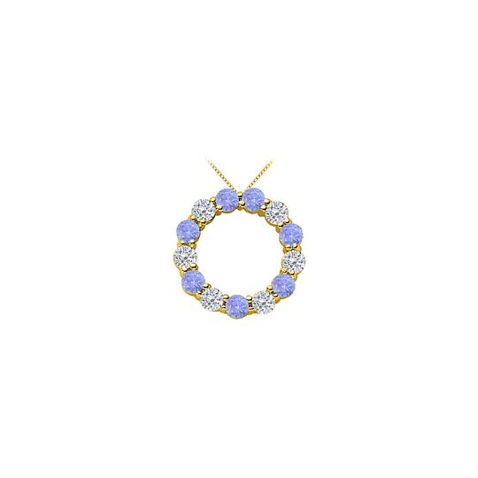 Preload https://img-static.tradesy.com/item/25268981/blue-2-ct-cubic-zirconia-and-created-tanzanite-eternity-circle-necklace-0-0-540-540.jpg