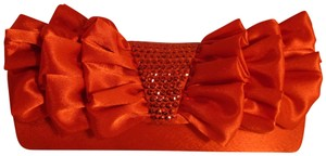 Jessica McClintock Satin Sequin 001 Onm red Clutch