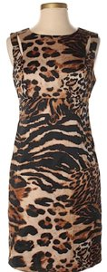 INC International Concepts Leopard Cut-out Sleeveless Dress