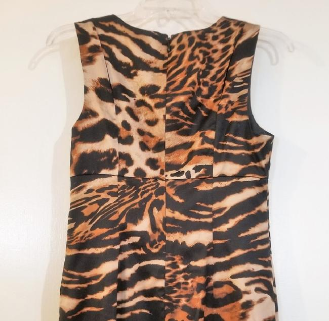 INC International Concepts Leopard Cut-out Sleeveless Dress Image 2