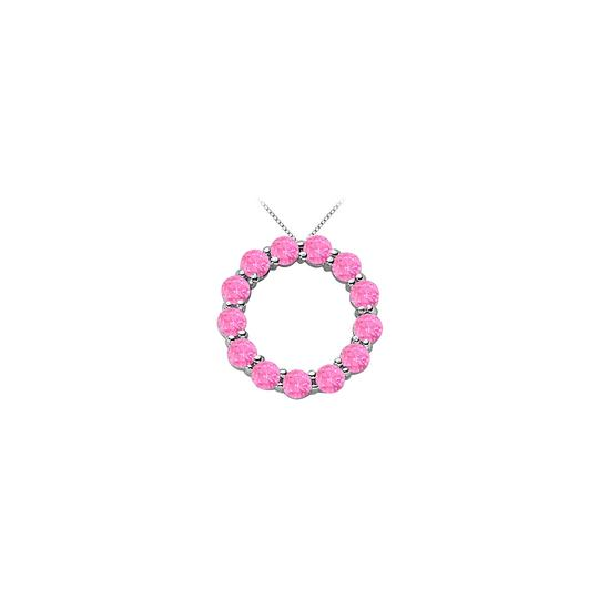 Preload https://img-static.tradesy.com/item/25269055/white-created-pink-sapphire-circle-of-life-pendant-gold-14k-total-g-necklace-0-0-540-540.jpg