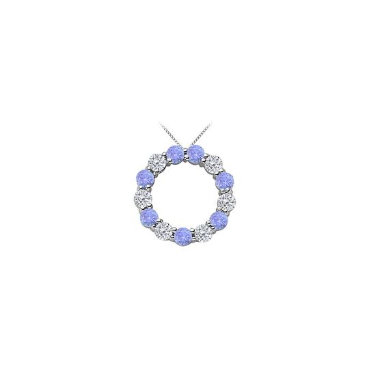 Preload https://img-static.tradesy.com/item/25269071/blue-2-ct-cubic-zirconia-and-created-tanzanite-eternity-circle-necklace-0-0-540-540.jpg