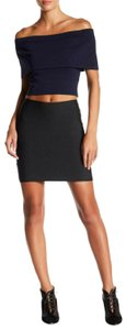 Wow Couture Mini Skirt Solid Black