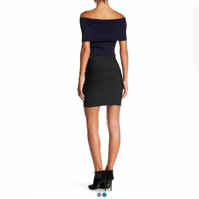 Wow Couture Mini Skirt Solid Black Image 1
