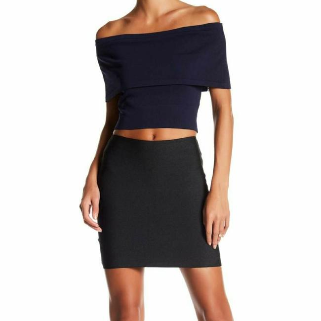 Wow Couture Mini Skirt Solid Black Image 2