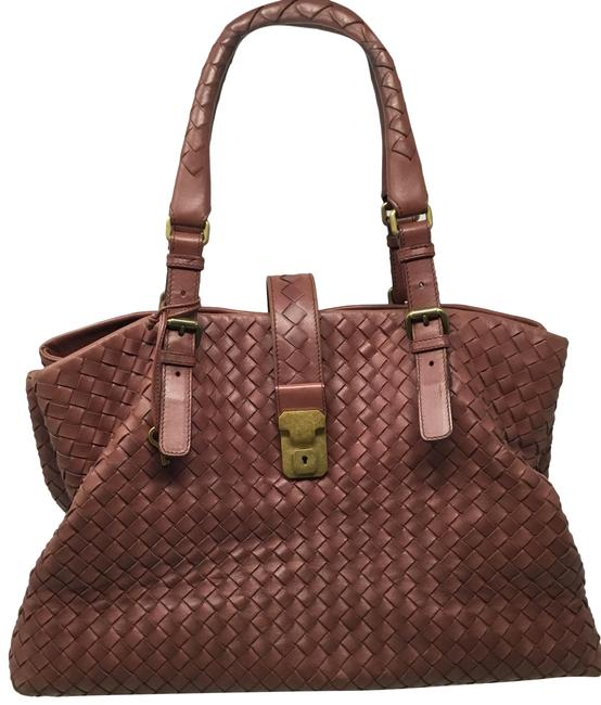 Item - Intrecciato Roma Mauve Leather Tote