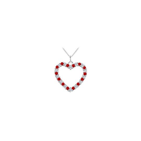 Preload https://img-static.tradesy.com/item/25269142/red-heart-pendant-with-cubic-zirconia-and-created-ruby-in-14k-white-gold-0-necklace-0-0-540-540.jpg