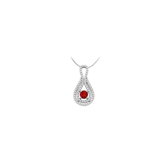 Preload https://img-static.tradesy.com/item/25269172/red-cubic-zirconia-and-created-ruby-pendant-in-14k-white-gold-125-ct-tgw-necklace-0-0-540-540.jpg