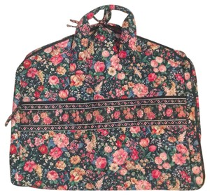 Vera Bradley retired green with flowers garment bag