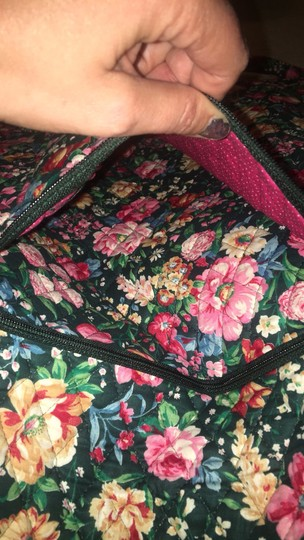 Vera Bradley retired green with flowers garment bag Image 2