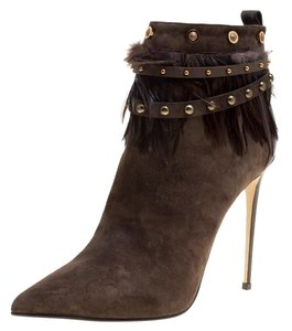 Le Silla Suede Pointed Toe Leather Brown Boots