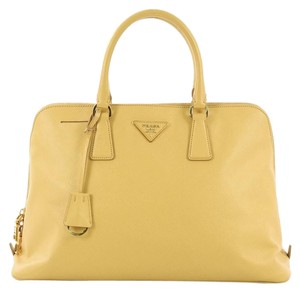 Prada Saffiano Leather Promenade Tote in yellow