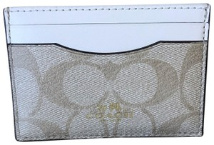 Coach signature credit card holder leather wallet