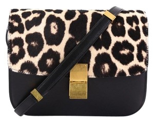 Céline Pony Hair Classic Box Satchel in black