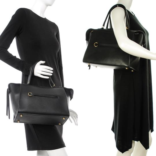 Céline Ring Small Ring Ring Ring Ring Tote in Black Natural Image 11