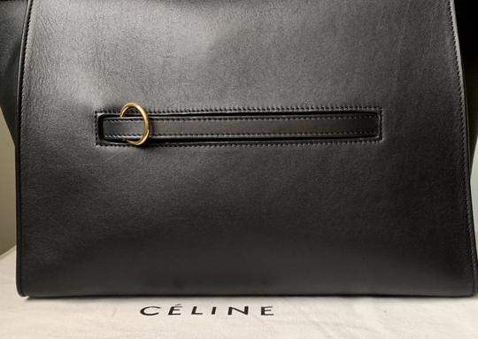 Céline Ring Small Ring Ring Ring Ring Tote in Black Natural Image 2