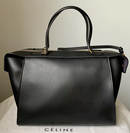 Céline Ring Small Ring Ring Ring Ring Tote in Black Natural Image 3