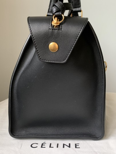 Céline Ring Small Ring Ring Ring Ring Tote in Black Natural Image 4