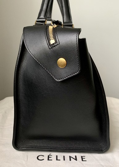 Céline Ring Small Ring Ring Ring Ring Tote in Black Natural Image 5