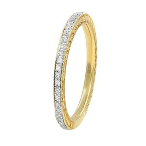 Gavriel's Jewelry Micro Set Pave Diamond Eternity Ring 0.18cts