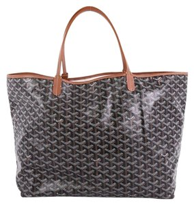 Goyard Canvas St. Louis Tote in black