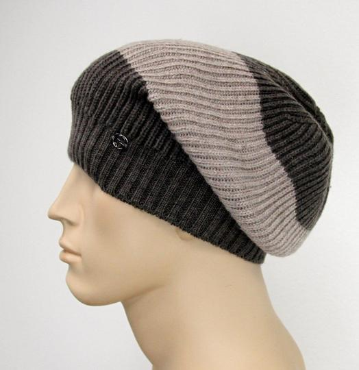 Gucci Gucci Wool Beanie Hat w/Interclocking G w/Tag Brown/ Beige 310777 2879 Image 1