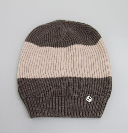 Gucci Gucci Wool Beanie Hat w/Interclocking G w/Tag Brown/ Beige 310777 2879 Image 2