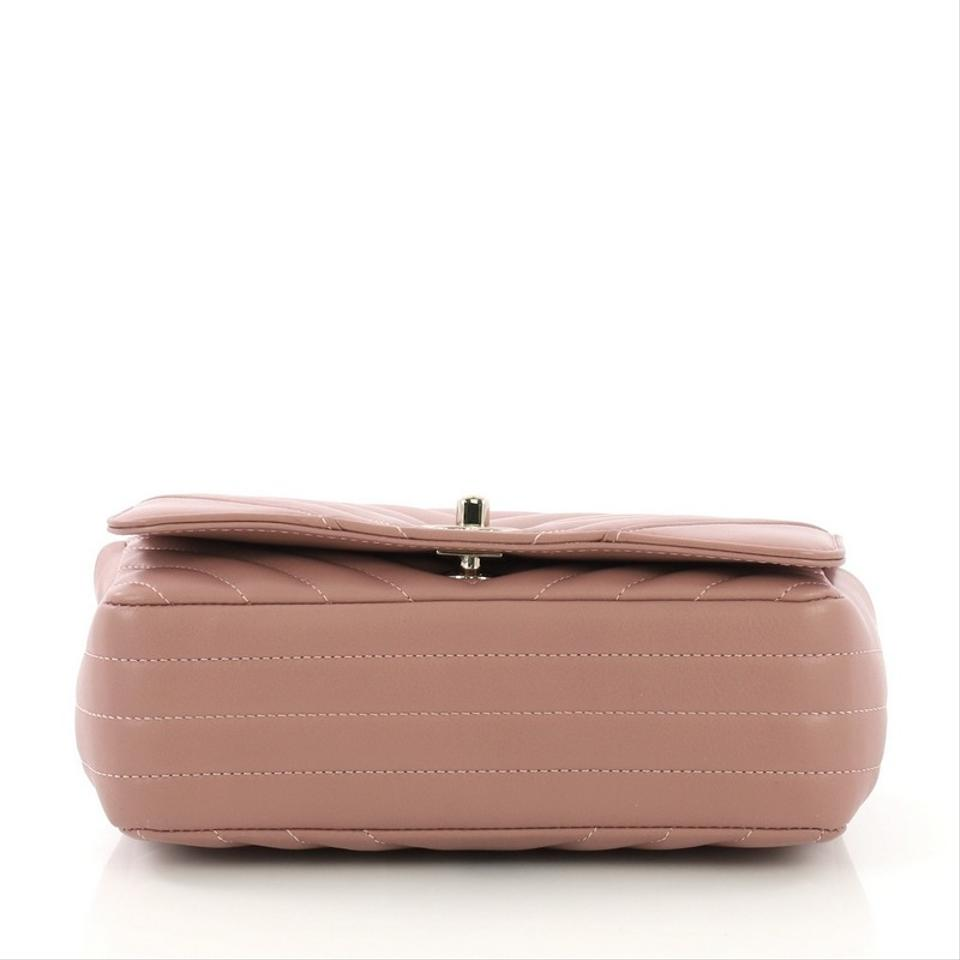 18737c77009a Chanel Classic Flap Statement Chevron Small Mauve Pink Calfskin ...