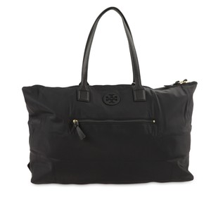 Tory Burch Nylon Duffle Black Travel Bag